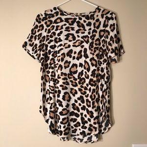 H&am - Cheetah Print Blouse